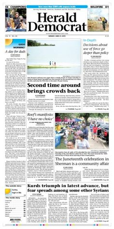 Here's this Sunday's front page! #newspaper #design #layout #FrontPage