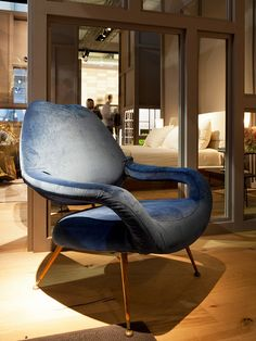Du 55:   iSaloni 2013. Masterpieces from the past | Flickr - Poltrona Frau has rediscovered one of the key figures of the exuberant '50s-'60s, Gastone Rinaldi, the most American of Italian designers and the only one able to compete with Charles Eames. 'DU 55' and 'Letizia', two armchairs from 1954, are characterized by sensually composed organic volumes.