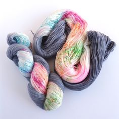 Rainbow Raindrops - 4Ply Fingering - Merino & Nylon – Woolly Mama Yarns