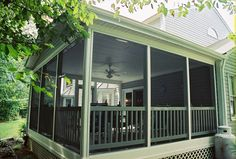 screened in deck Lanai Screened, Screened Porches, Outside Living, Outdoor Living, Porch Accessories, Outdoor Spaces, Outdoor Decor, Decks And Porches, Beautiful Homes