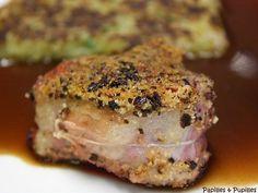 Tournedos de magrets au foie gras en croûte de cèpes