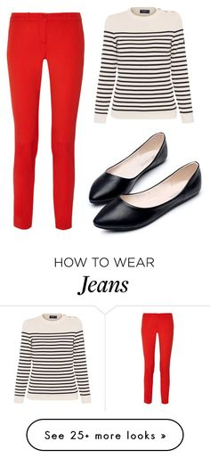 """""""Brighter with Jeans"""" by superfashion-845 on Polyvore featuring Saint James and Michael Kors"""