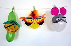 Faschingsdekoration mit Luftballons und Masken - Fasching-basteln - Meine Enkel und ich - Made with schwedesign.de