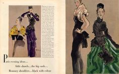 VOGUE René Bouché 1945 Balenciaga Balmain Lelong Fashion