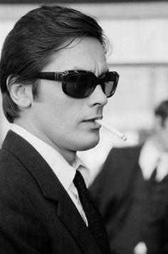 "#AlainDelon on the set in ""Le clan des siciliens"" by #HenriVerneuil 1969 -- #BlackTie"