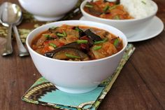 Eggplants in sweet and sour sauce is an Indo Chinese recipe served with steamed rice. A gem among Eggplant recipes that is vegan too.
