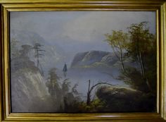 19th C. Hudson River Valley School, Oil on Canvas : Lot 4 https://www.liveauctioneers.com/catalog_gallery/83465