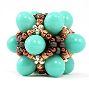 From beAd Infinitum: Patterns and Kits.  By Balloon Box. This is Turquoise Patina