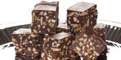 Chokolade-nougat med ristede mandler | Opskrifter | fakta