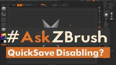 "#AskZBrush: ""Can I disable QuickSave permanently?"" Video covers how to disable the QuickSave functionality inside of ZBrush permanently. Ask your question..."