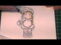 Water colouring with Distress Inks Pt 1 Skin Tones (card-making-magic.com) - YouTube