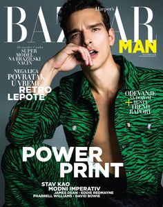 Alexandre Cunha in KENZOxH&M for Harper's Bazaar Man Serbia November 2016 cover. Magazine Man, Magazine Images, Magazine Subscriptions For Men, Kenzo, Cover Male, Cover Guy, Magazine Cover Design, Magazine Covers, Photoshoot Concept