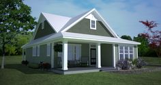 Southern Cottage for a Narrow Lot - 15043NC | Architectural Designs - House Plans