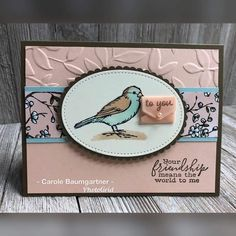 Stampin Up! free as a bird bird ballad suite Stampin Up Karten, Stampin Up Cards, Coffee Cards, Fun Fold Cards, Bird Cards, Card Patterns, Animal Cards, Cards For Friends, Card Making Inspiration