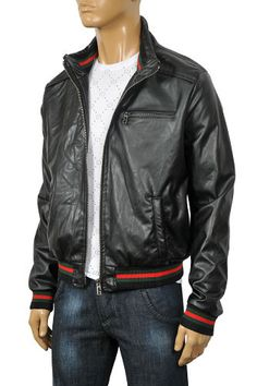 Gucci Jacket (Men s Pre-owned Bomber Jackets, Black Leather) Gucci Jacket  Mens 0b94b87016f