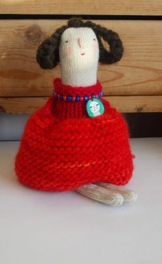 Molly  a knitted art doll by maidolls on Etsy, £32.00