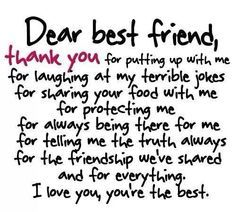 Birth Day QUOTATION – Image : Quotes about Birthday – Description 46 To Share With Your Best Friend Sharing is Caring – Hey can you Share this Quote ! best friend quotes Birthday Quotes : 46 Friendship Quotes To Share With Your Best Friend Besties Quotes, Cute Quotes, Bffs, Bestfriends, Bestfriend Goals Quotes, Hilarious Quotes, Sister Quotes, Fact Quotes, True Friendship Quotes