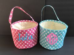 A personal favorite from my Etsy shop https://www.etsy.com/listing/268500463/sale-personalized-easter-baskets-easter