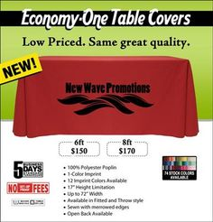 Economy-One Thermal Transfer Table Covers