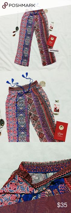 NWT Gypsies and Moondust Palazzo Wide Legs Pants NEW WITH TAG  Palazzo Wide Legs Boho Pants  Free Shipping is available, please contact.  ***PANTS ONLY. ACCESSORIES AND DECORATIVE ITEMS ARE NOT INCLUDED. Gypsies and Moondust Pants Boot Cut & Flare