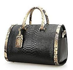 Style For A Successful Businesswoman Black Handbags, Leather Handbags, Luxury Handbags, Zip Wallet, Zip Around Wallet, Leather Handle, Pu Leather, Snake Patterns, Vera Bradley Tote