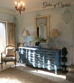 Stenciled and Faux Painted Walls