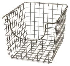 S/2 Small Scoop Baskets, Satin Nickel   Kitchenware for Every Cook   One Kings Lane