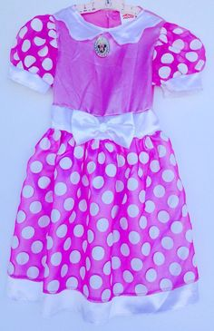 Minnie Mouse Pink Dress Costume Toddler Size M 3T-4T Girls Pretend Play #Dress