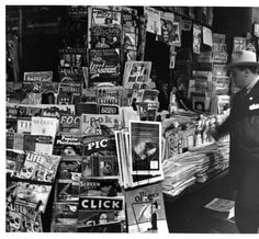 Newsstand at Fifth Avenue & 42nd St., New York City.
