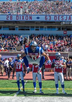 WK 13 - Sept.20 2015 - Wpg.14 - Mtl.35 - #11 Chip Cox (LB) Pre-game Montreal Alouettes, Basketball Court, Football, Game, Sports, Soccer, Hs Sports, Futbol, Gaming
