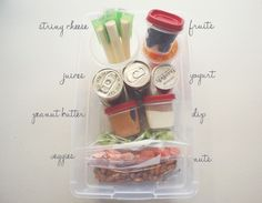 snack station for your fridge for the week.  This is a good diet technique too that keeps you from over eating since the items are sorted by servings.