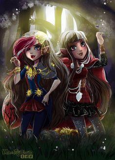 Cerise Hood and Ramona Badwolf by MissLocoloca.deviantart.com on @DeviantArt