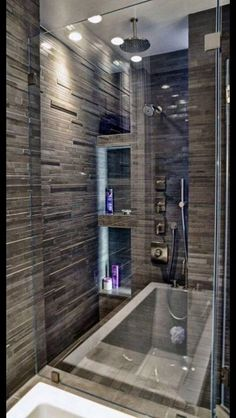 Luxury Bathroom Master Baths Dreams is unquestionably important for your home. Whether you pick the Luxury Master Bathroom Ideas or Luxury Bathroom Master Baths With Fireplace, you will make the best Interior Design Ideas Bathroom for your own life. Bad Inspiration, Bathroom Inspiration, Bathroom Ideas, Bath Ideas, Bathroom Storage, Shower Bathroom, Bathroom Vanities, Shower Storage, Spa Shower