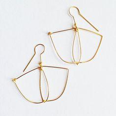 Gold platted earrings  by LauraEssayie on Etsy