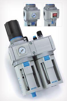 Equipos para el tratamiento del aire comprimido y accesorios con diferentes funciones FRL (Filtro/Regulador/Lubricador) de Automación Micromecánica, distinguidos con el Sello de Buen Diseño 2011.