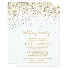 Shop Vintage Glam White & Gold Holiday Party Invitation created by Invitation_Republic. Vintage Invitations, Christmas Party Invitations, Zazzle Invitations, Business Holiday Cards, Vintage Glam, Create Your Own Invitations, Christmas Fun, Winter Holiday, White Nails