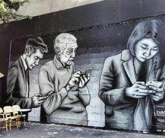 'All Addicted' New Street Art by @zabouartist found in Paris #art #mural…