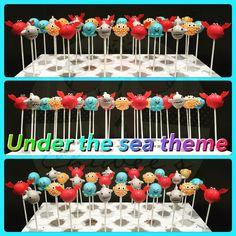 Under the sea cake pops, Sea creatures Cake Pops