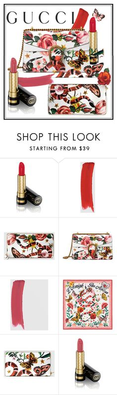 """Presenting the Gucci Garden Exclusive Collection: Contest Entry"" by mermadem ❤ liked on Polyvore featuring Gucci, garden, gucci, contestentry and kingsnake"