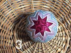 Dekorácie - vianočné patchworkové gule bordovo-strieborné so staroružovou - 7148739_