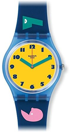 Women's Wrist Watches - Swatch GN242 1 2 3 Soleil Multicolour Silicone Strap Watch *** Find out more about the great product at the image link.