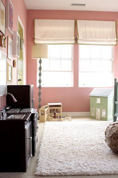 Big girl room - i like this shade of pink fr bugs room. she did say she wanted pink.