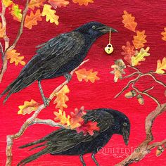 Robber's Roost by Joanne Baeth at AQS Quilt Week Paducah 2015.  Closeup photo by Quilted Joy.