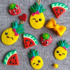 #earrings #jewelry #fimo #polymerclay #polymerclayjewelry #funnyfood #kawaii #foodearrings #foodjewelry #pineapple #watermelon #bow #yellow #yellowjewelry #strawberries #strawberry #girlsearrings #girlsgifts #spring #easter #eastergifts #handmade #crafts #fashion #handmadejewelryearrings