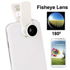 Lens Fisheye for Smartphone (Model Jepit warna putih)