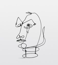 Alexander Calder. 'Frank Crowninshield.' Wire. 1928. (yes the same guy who does the mobiles!)