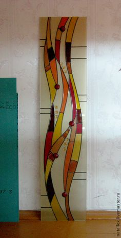 dlya-doma-interera-vitrazh-volny. (389×768) Modern Stained Glass, Stained Glass Birds, Faux Stained Glass, Stained Glass Designs, Stained Glass Panels, Stained Glass Projects, Stained Glass Patterns, Leaded Glass, Mosaic Art