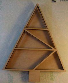 Wood Christmas tree layering no.4