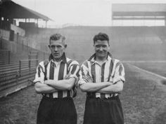 Ernest Jackson on the left. Albert Cox on the right - Sheffield United