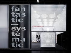Burkhardt Leitner – EuroShop 2011, Fair stand. Spatial graphics, signage and typographic installations. Design for and with IppolitoFleitz Group, Stuttgart – http://ifgroup.org
